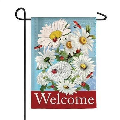 Garden Flag - Daisies & Ladybugs