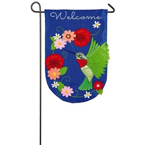 Garden Flag - Hummingbird Garden