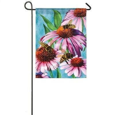 Garden Flag - Bees & Coneflowers