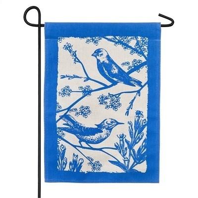 Garden Flag - Birds in Bloom
