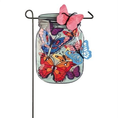 Garden Flag - Mason Jar Butterflies