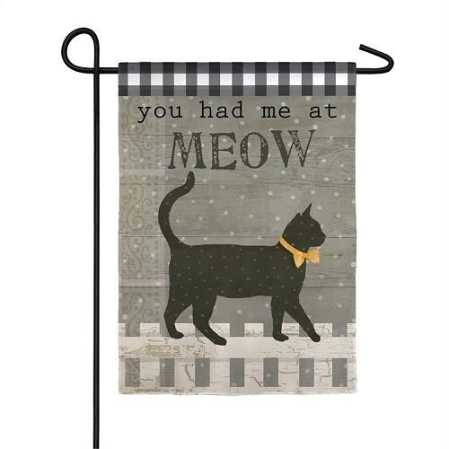 Garden Flag - Meow