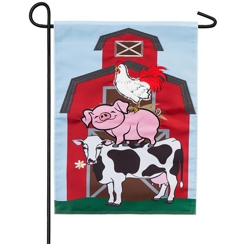 Garden Flag - Stacked Farm Animals