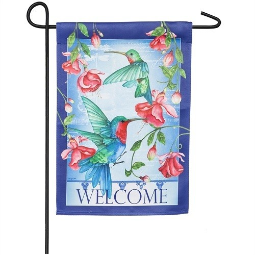 Garden Flag - Welcome Hummingbirds