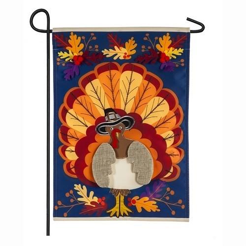 Garden Flag - Thanksgiving Turkey