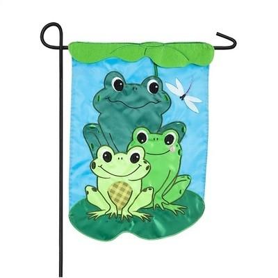 Garden Flag - Frog Family