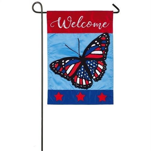 Garden Flag - Americana Butterfly