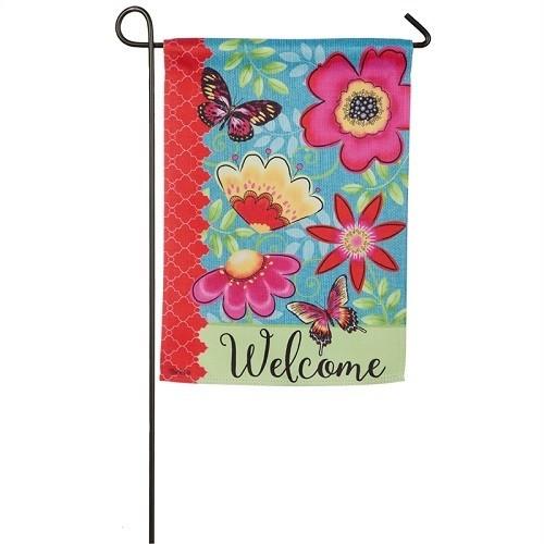 Garden Flag - Butterflies & Flowers