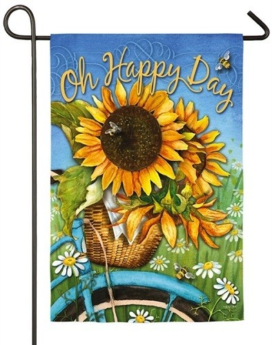 Garden Flag - Happy Day