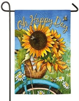 Garden Flag - Happy Day