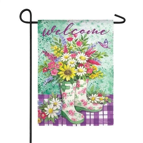 Garden Flag - Floral Garden Boots