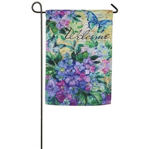 Garden Flag - Watercolor Hydrangea