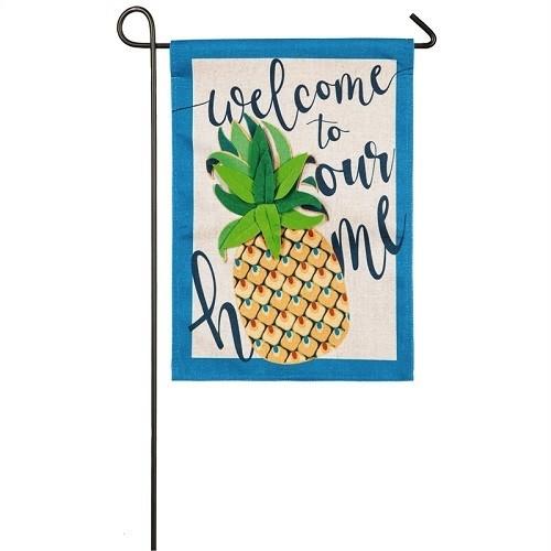 Garden Flag - Welcome Pineapple