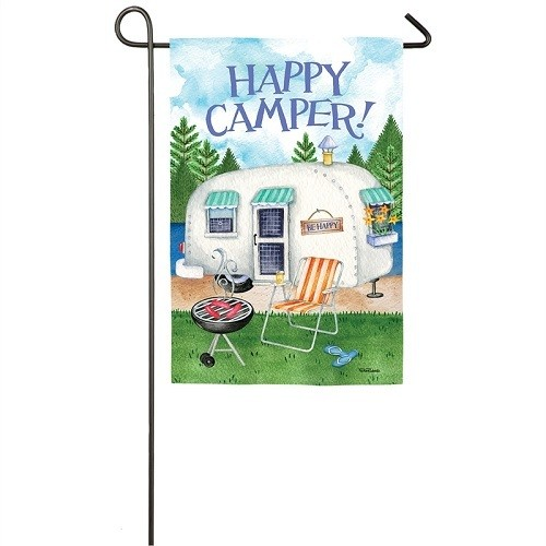 Garden Flag - Happy Camper