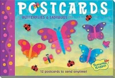 Postcard - Butterflies & Ladybugs