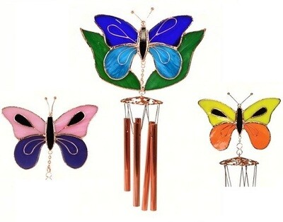 Wind Chime - Glass Butterfly