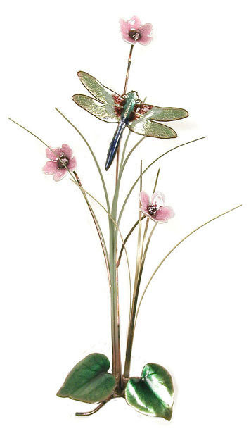 Bovano - Dragonfly and Flowers