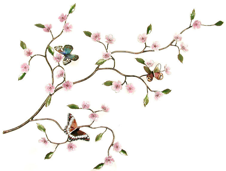 Bovano - Butterflies with Cherry Blossom Branch