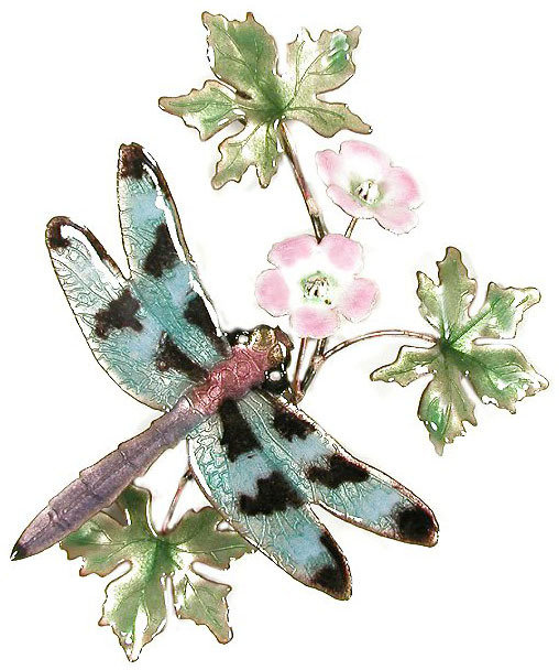Bovano - Dragonfly and Flower