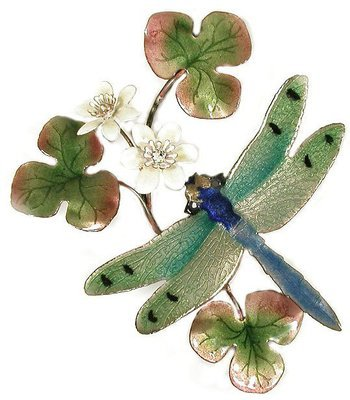 Bovano - Dragonfly Green Winged with Flower