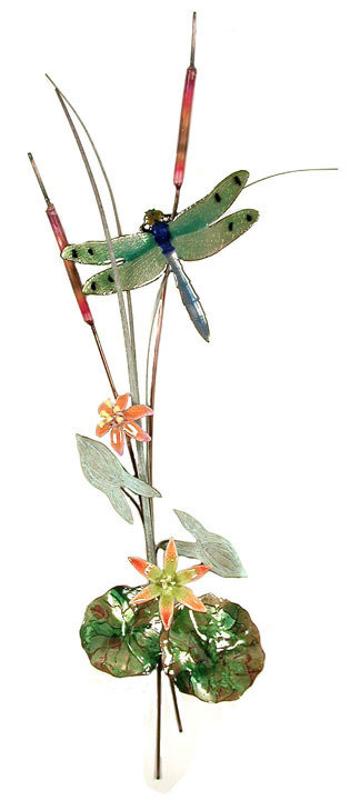 Bovano - Dragonfly with Orange Flowers