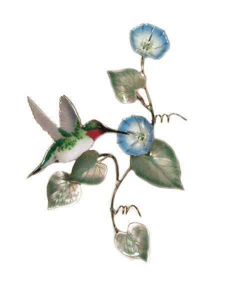 Bovano - Hummingbird with Morning Glory Vine