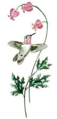 Bovano - Hummingbird with Bleeding Heart Flower