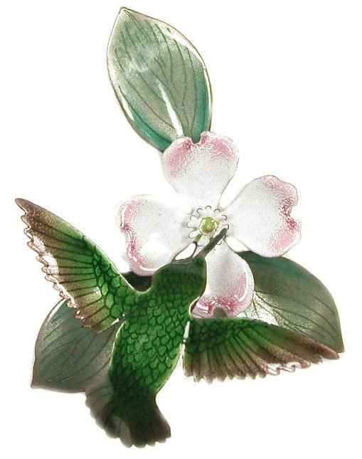 Bovano - Hummingbird with Dogwood