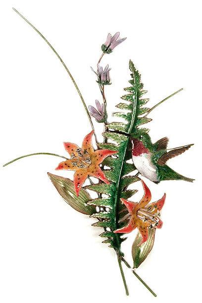 Bovano - Hummingbird with Fern