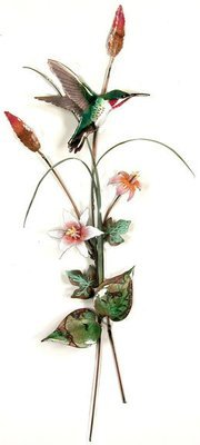Bovano - Hummingbird with Pink Lilies