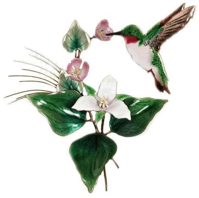 Bovano - Hummingbird with Trillium