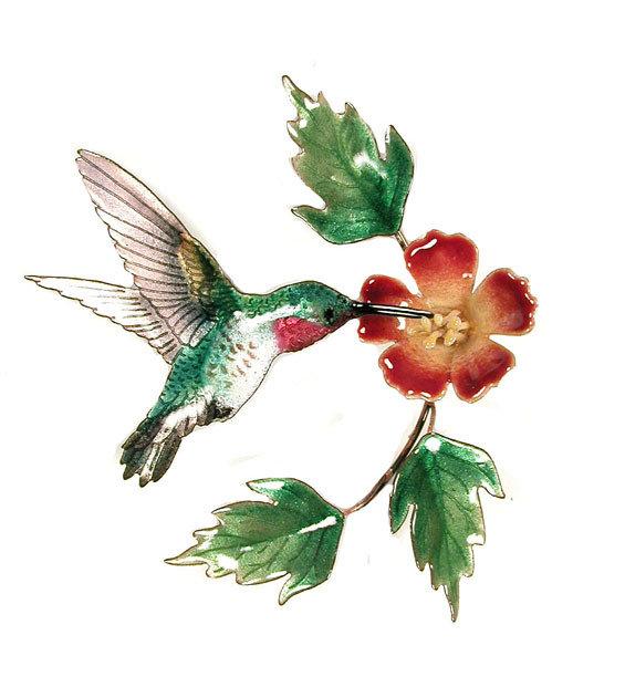 Bovano - Hummingbird with Trumpet Flower