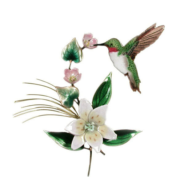 Bovano - Hummingbird with Wood Lily