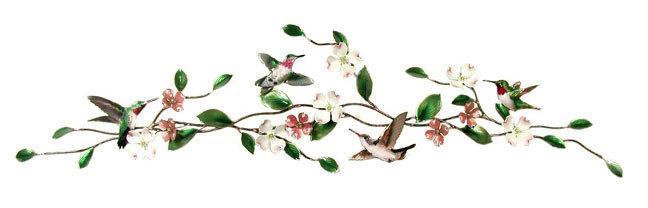 Bovano - Hummingbirds on Dogwood Bough