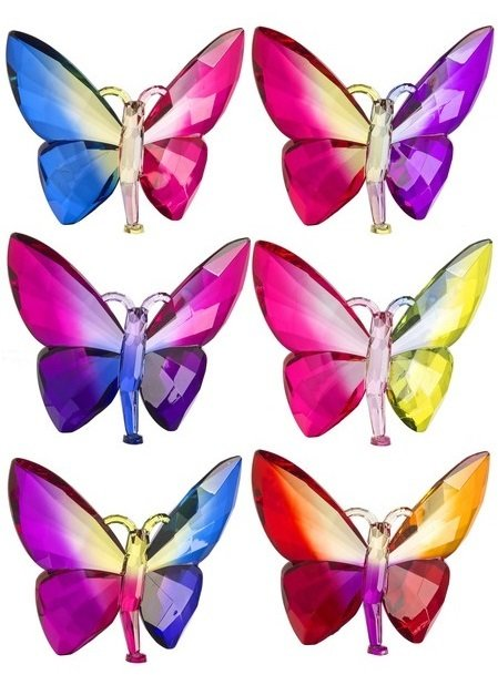 Acrylic Rainbow Butterfly