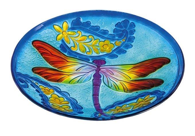 Birdbath Bowl - Dragonfly Kaleidoscope