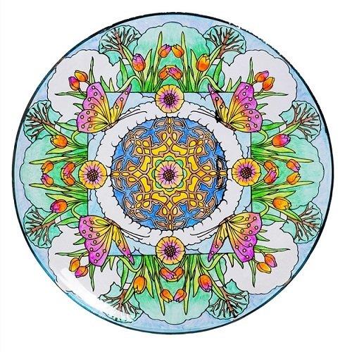 Birdbath Bowl - Inspired Scroll