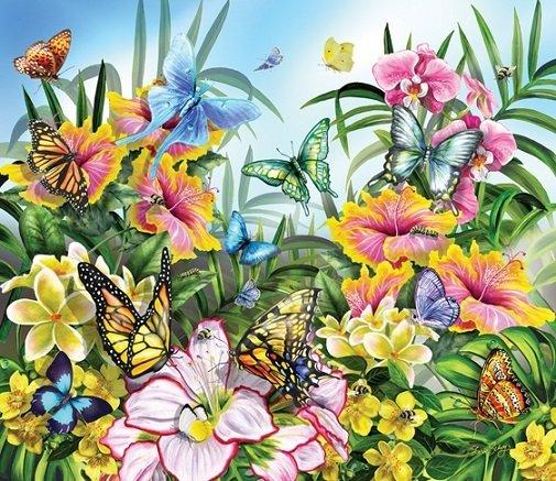 Puzzle - Butterflies in the Garden