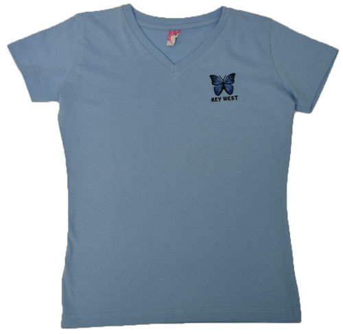 T-Shirt - Embroidered Blue Morpho