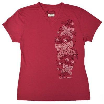 T-Shirt - Pink V-Neck