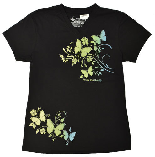 T-Shirt - Floriguias Butterfly V-Neck