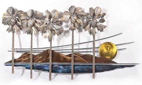 Copper Art - Five Palms
