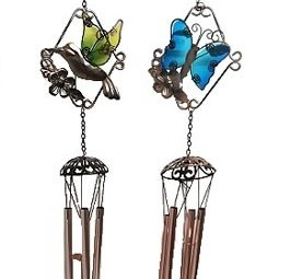 Wind Chime - Glass Hummingbird or Butterfly
