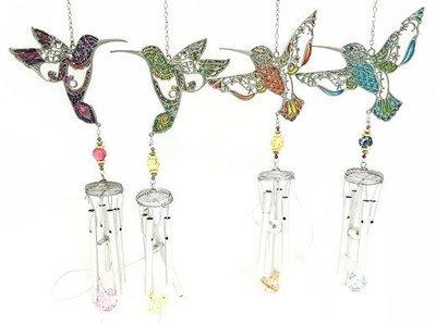 Wind Chime - Jeweled Hummingbirds