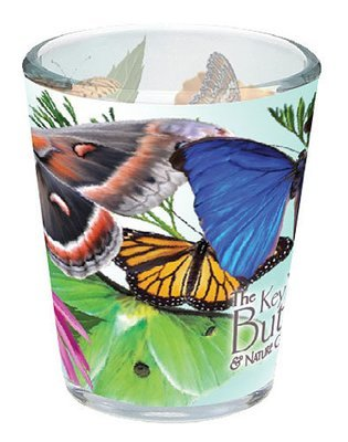 Shot Glass Butterflies and Flowers