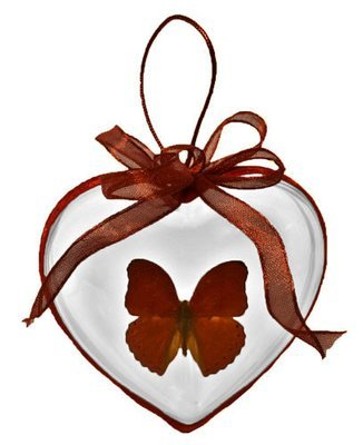 36 - Heart Shaped Butterfly Ornament