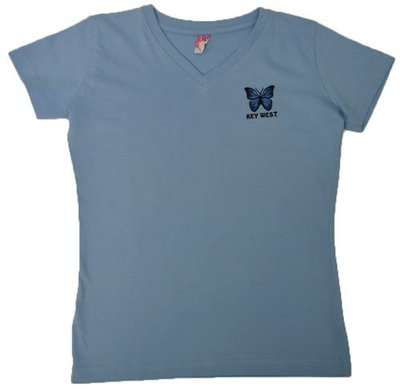 T-Shirt - Embroidered Blue Morpho