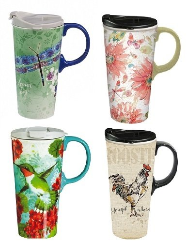 Mug - Travel - Dragonflies & Birds