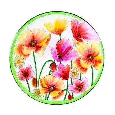 Birdbath Bowl - Poppies