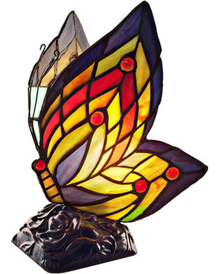 Lamp - Stained Glass Butterfly